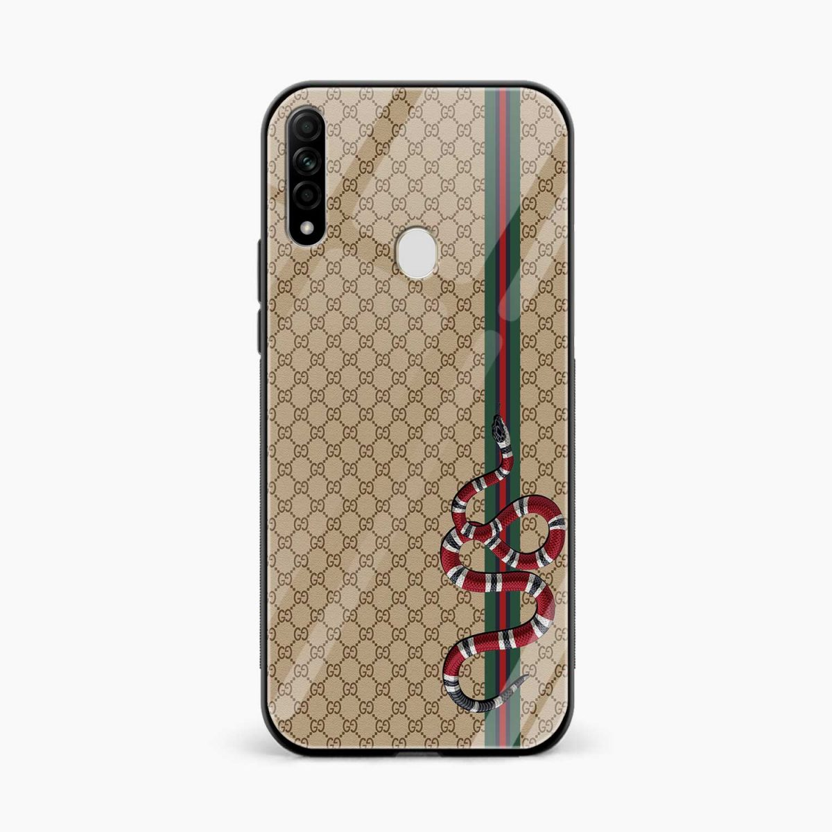 gucci snake pattern front view oppo a31 back cover