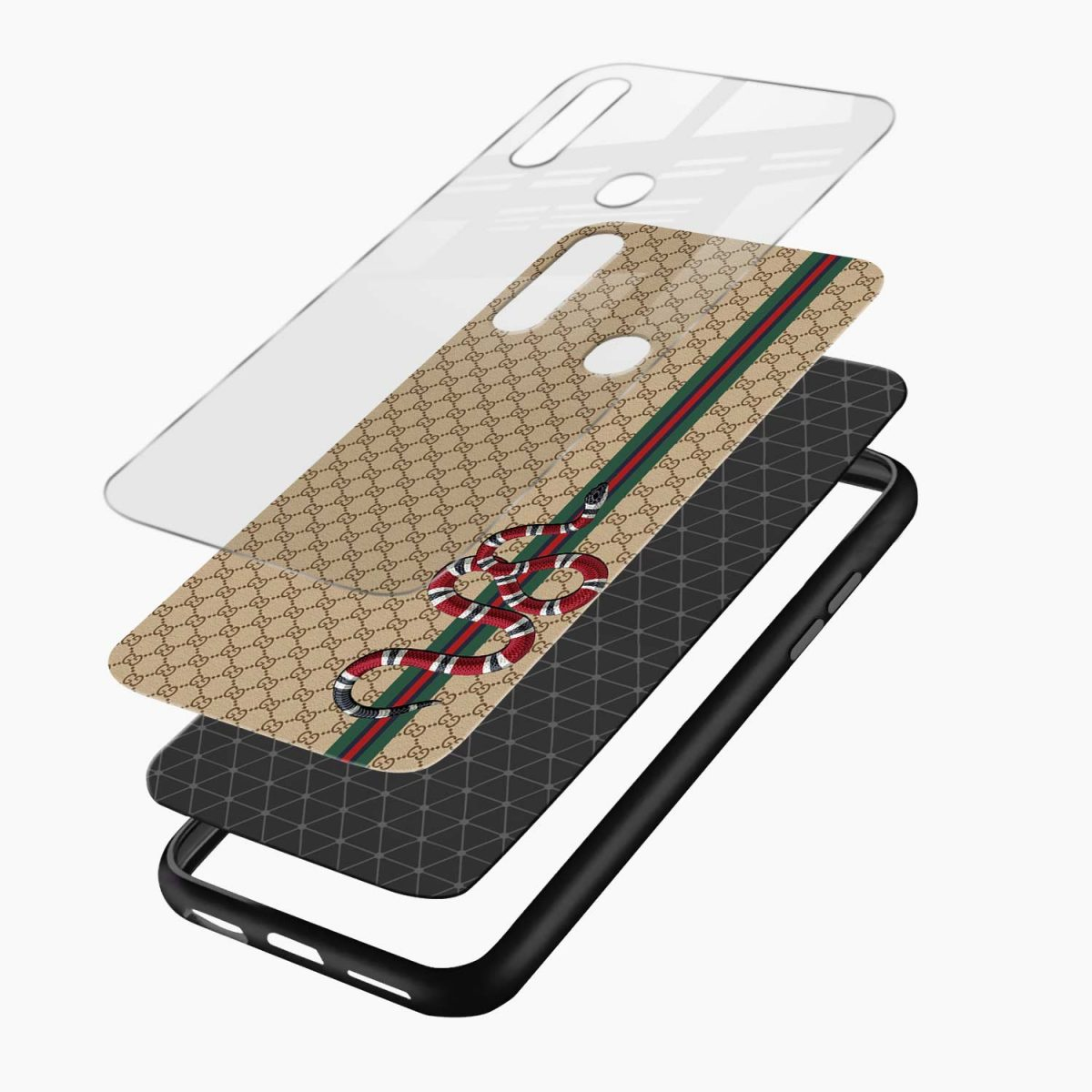 gucci snake pattern layers view oppo a31 back cover
