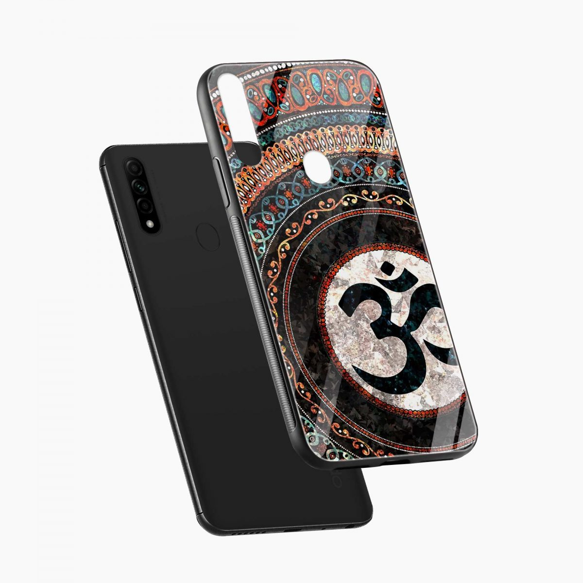 om glass diagonal view oppo a31 back cover