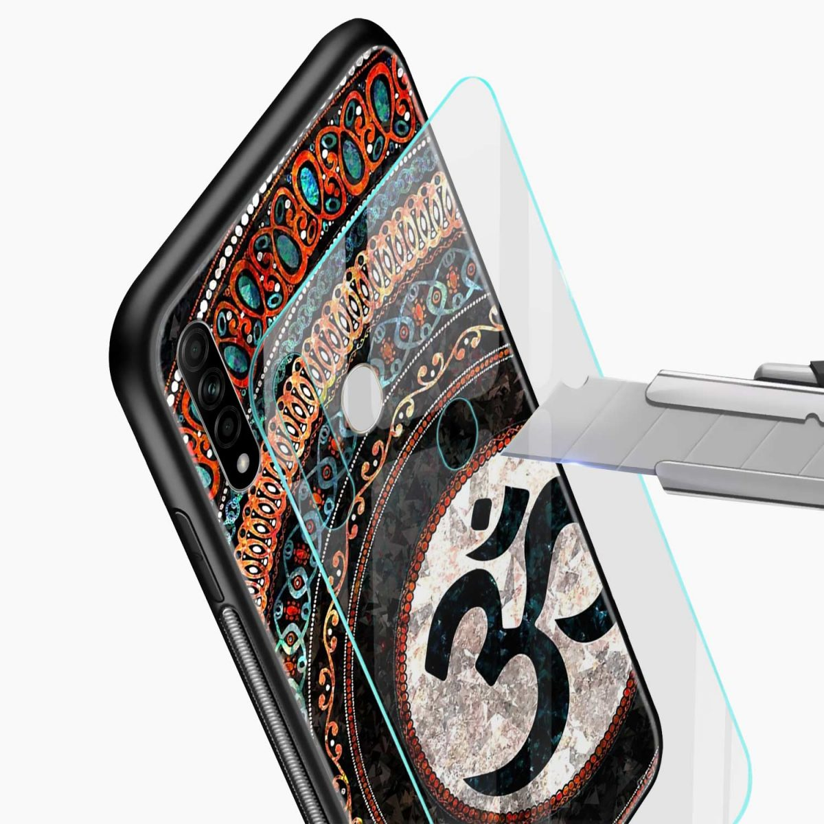 om glass glass view oppo a31 back cover