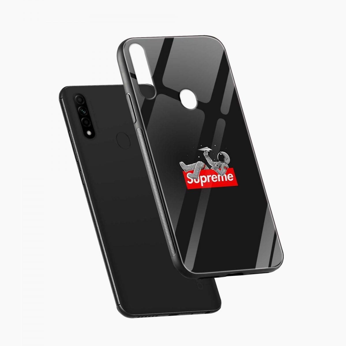 supreme astronaut diagonal view oppo a31 back cover