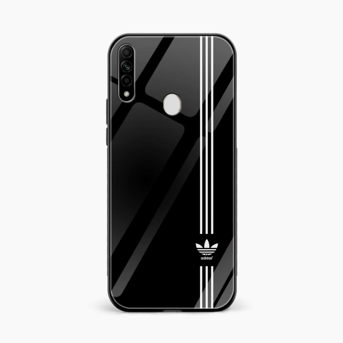 white strips adidas front view oppo a31 back cover