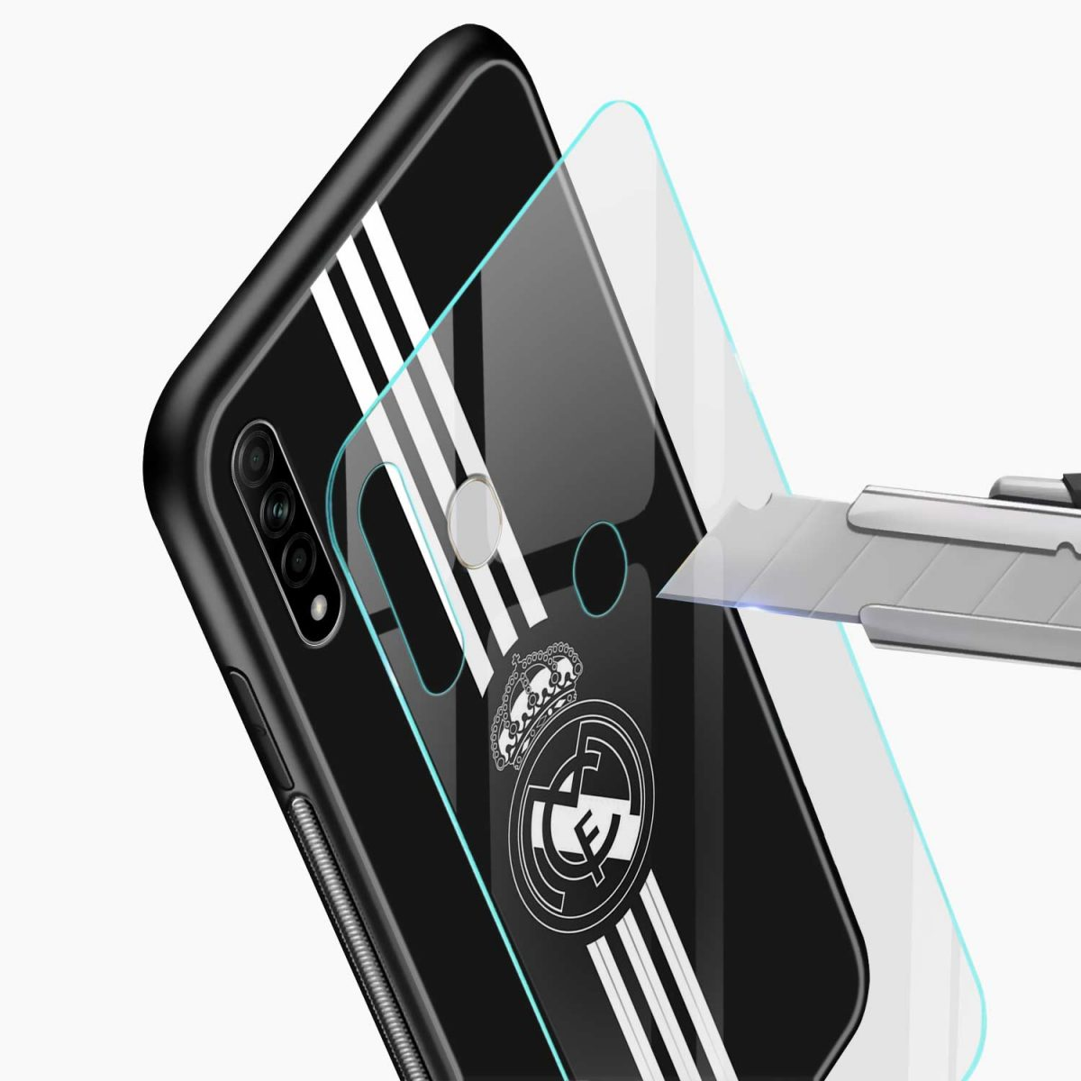 real madrid cf glass view oppo a31 back cover