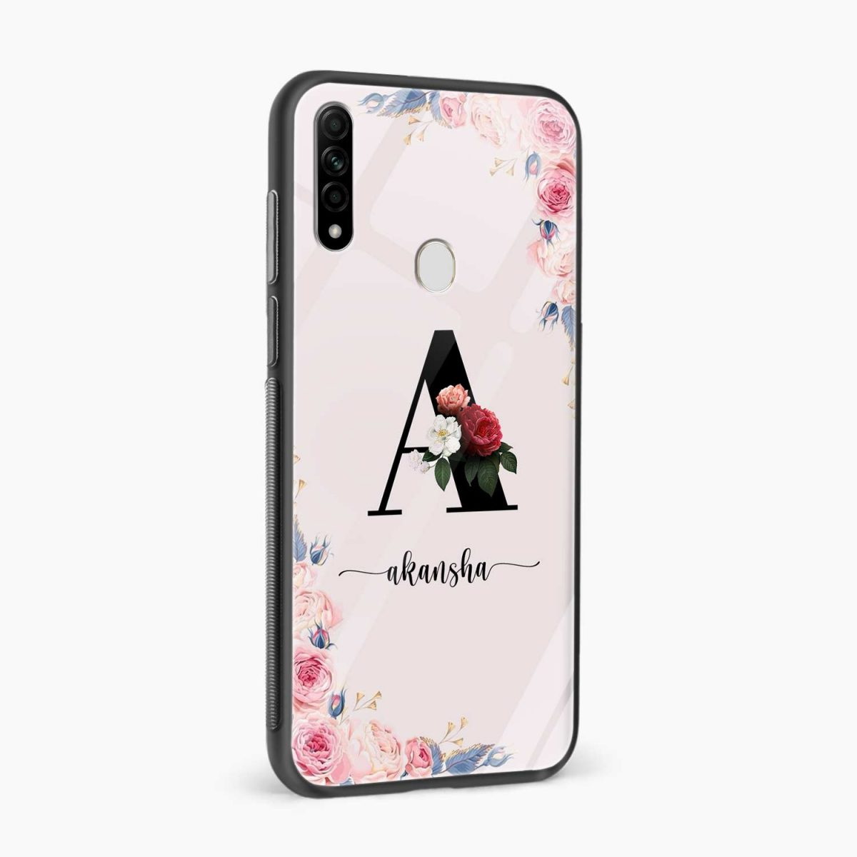 floral name personalised side view oppo a31 back cover