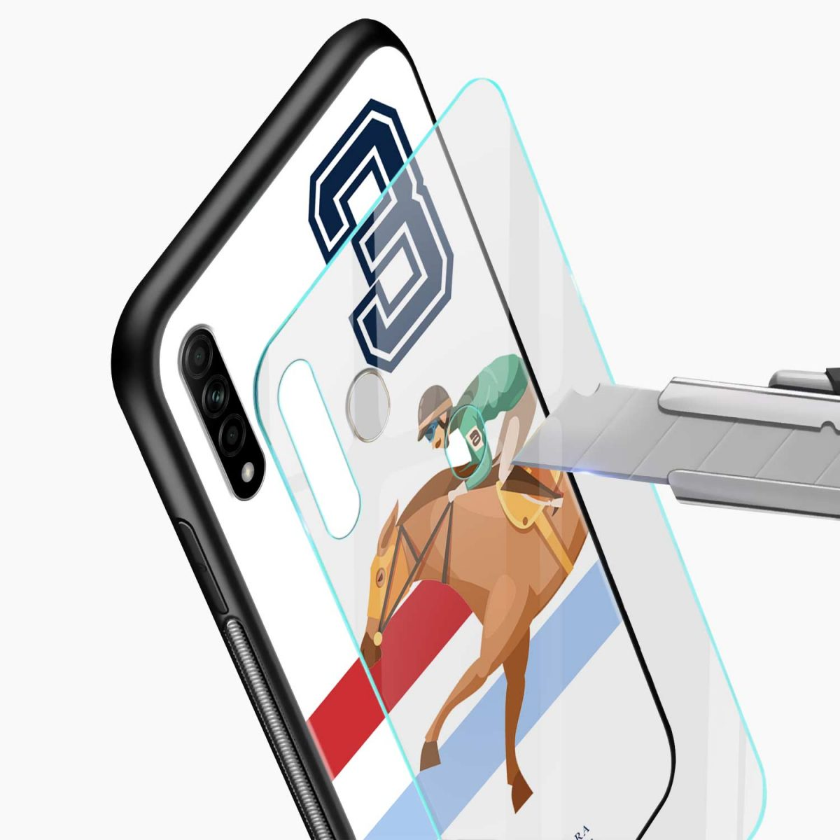 3d sant barbara polo glass view oppo a31 back cover