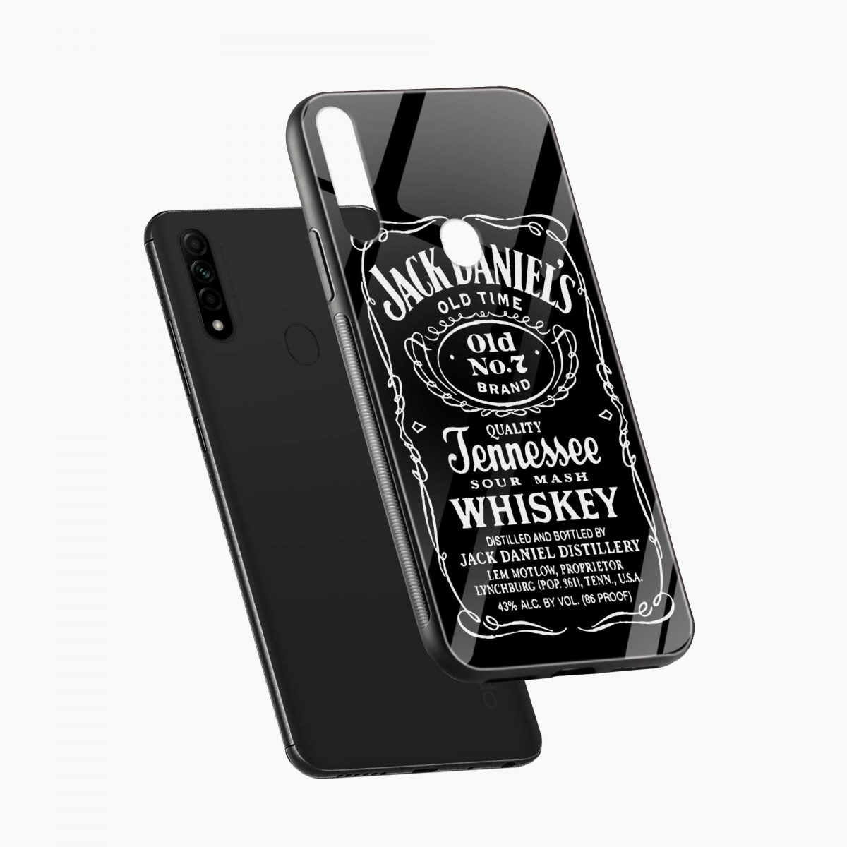 jack daniels whiskey diagonal view oppo a31 back cover