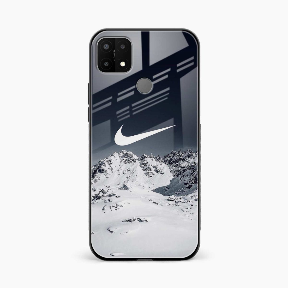 nike mountains front view oppo a15 back cover