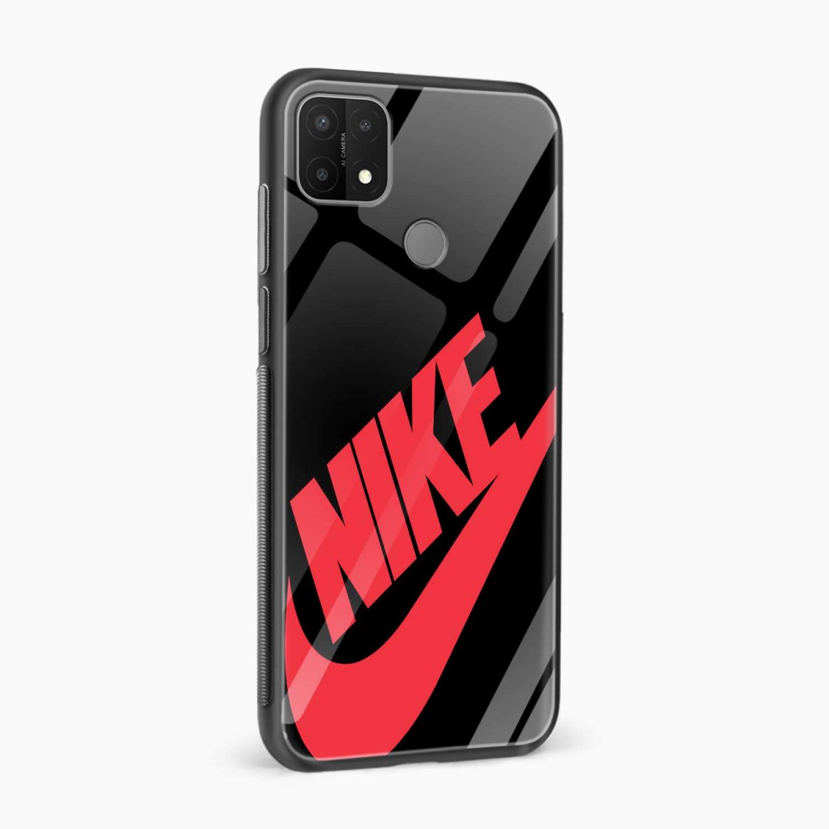 big red nike side view oppo a15 back cover