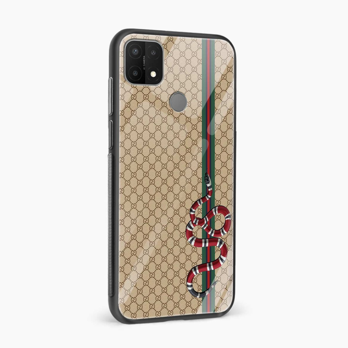 gucci snake pattern side view oppo a15 back cover