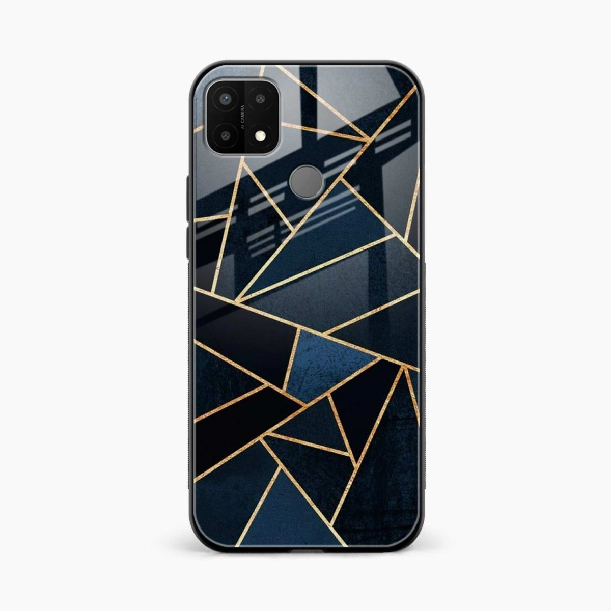 zig zag pattern front view oppo a15 back cover