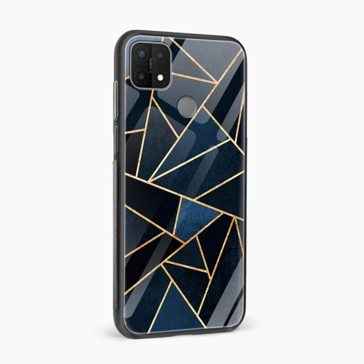 zig zag pattern side view oppo a15 back cover