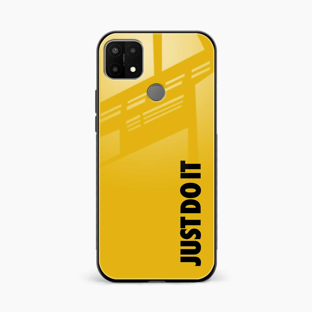 just do it front view oppo a15 back cover