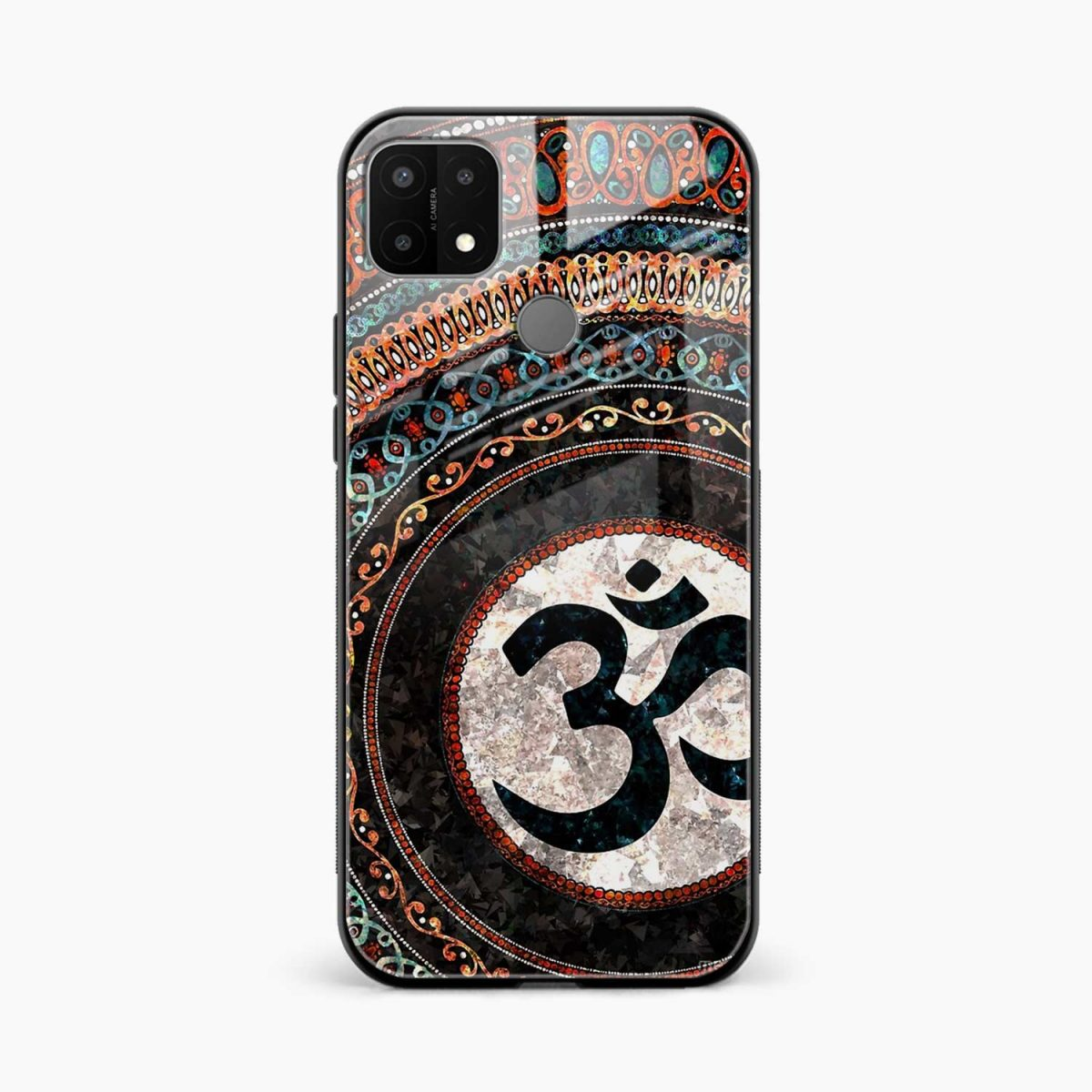 om glass front view oppo a15 back cover