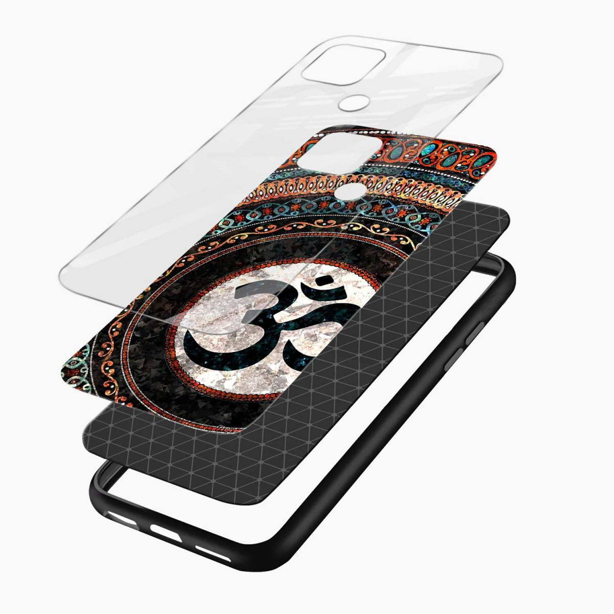 om glass layers view oppo a15 back cover