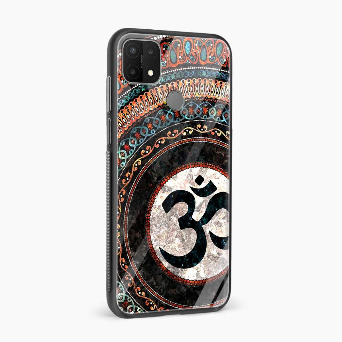 om glass side view oppo a15 back cover