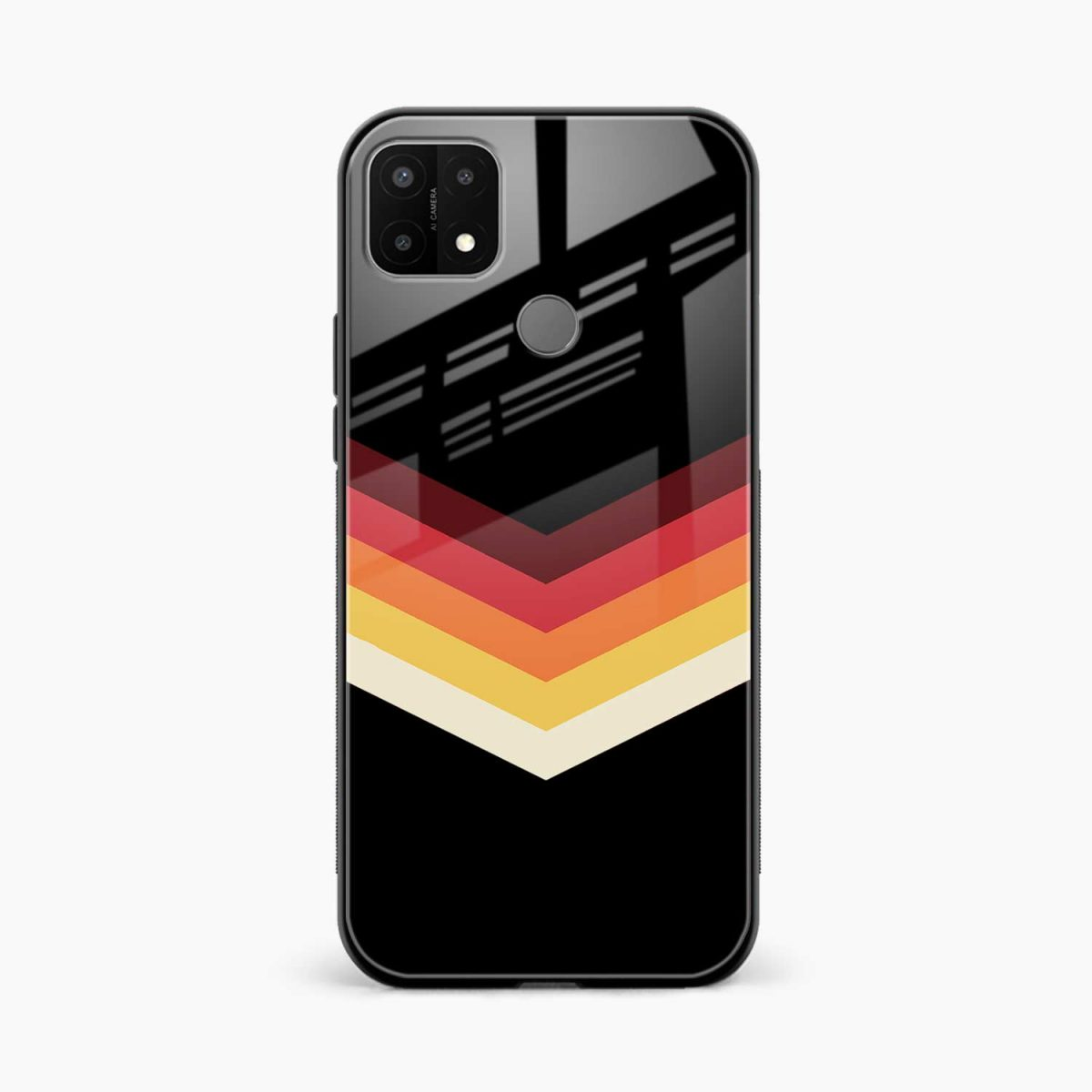 rewind strips pattern front view oppo a15 back cover