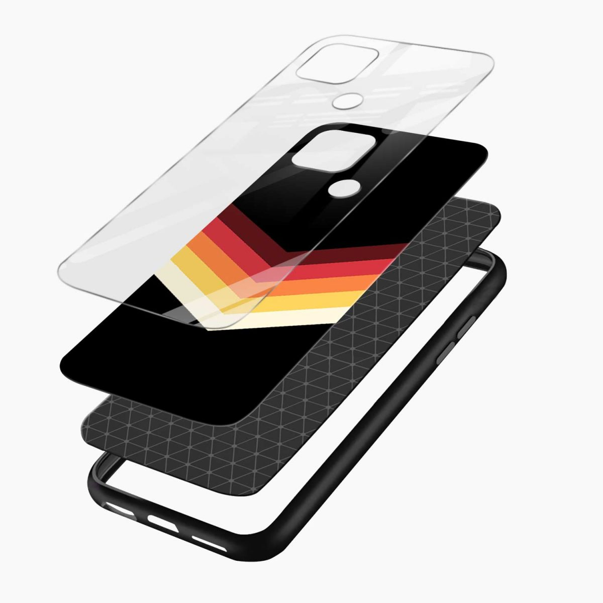 rewind strips pattern layers view oppo a15 back cover