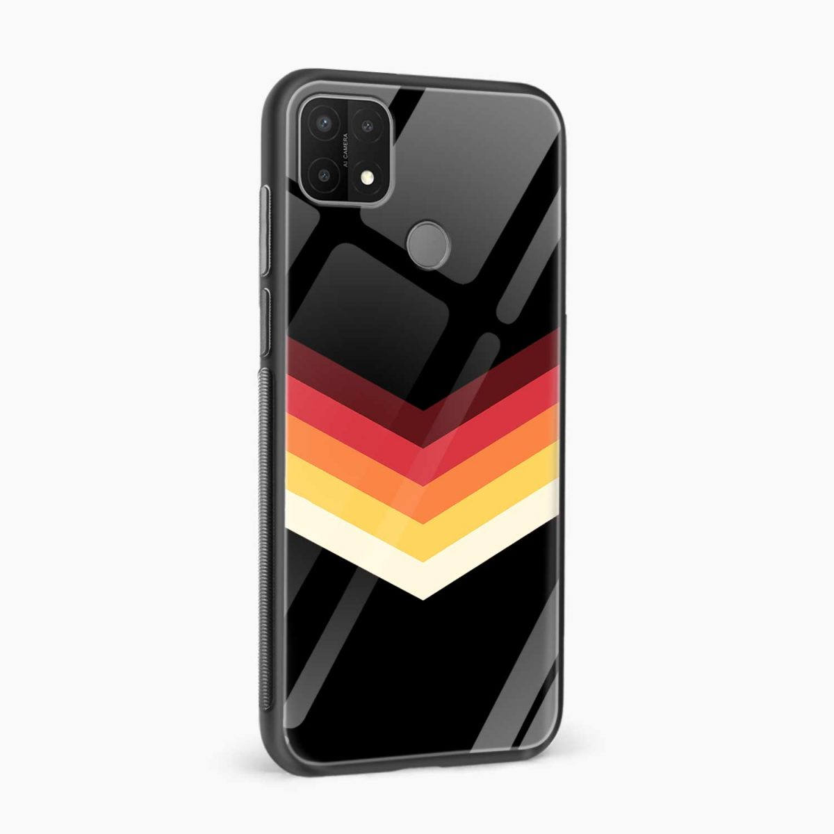 rewind strips pattern side view oppo a15 back cover