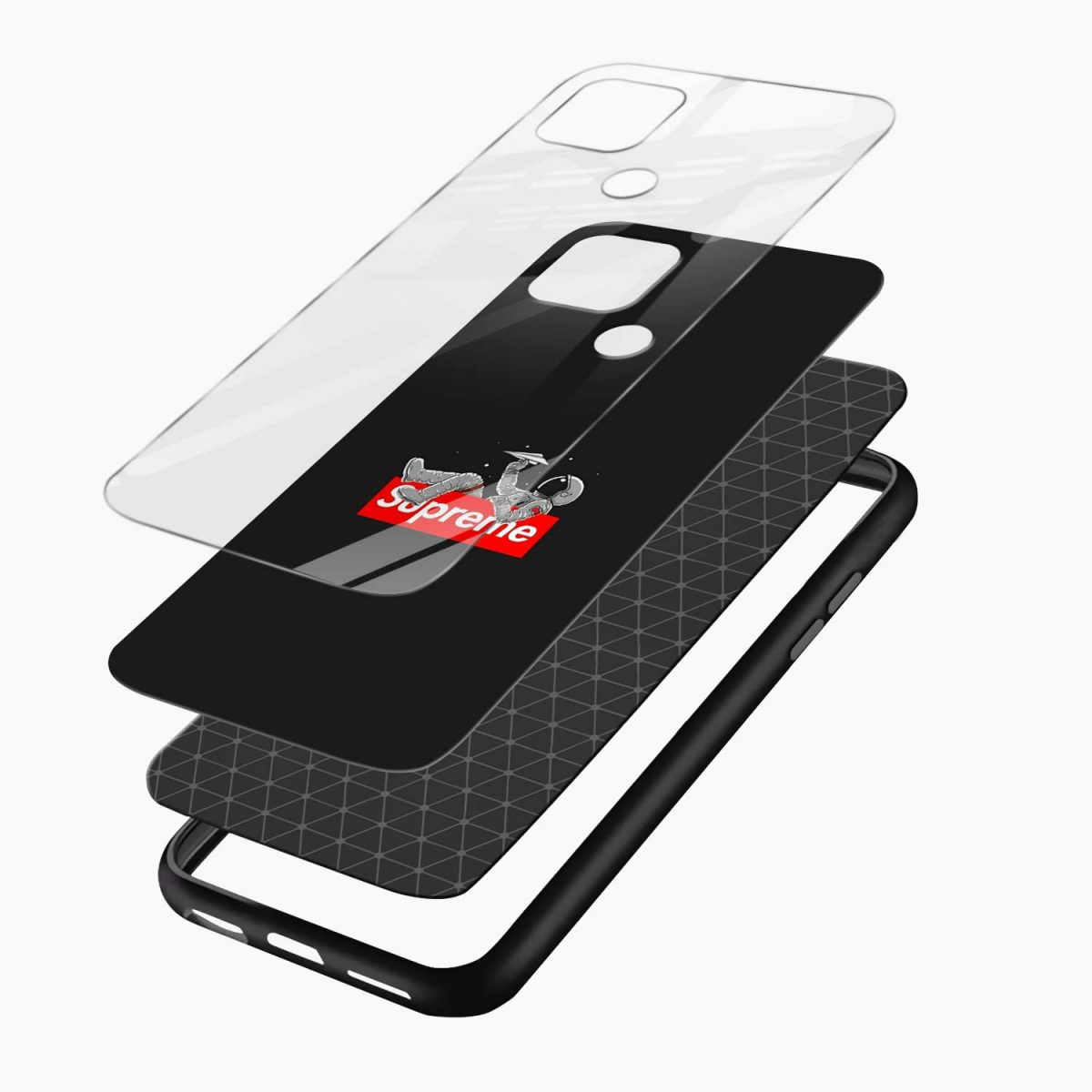 supreme astronaut layers view oppo a15 back cover