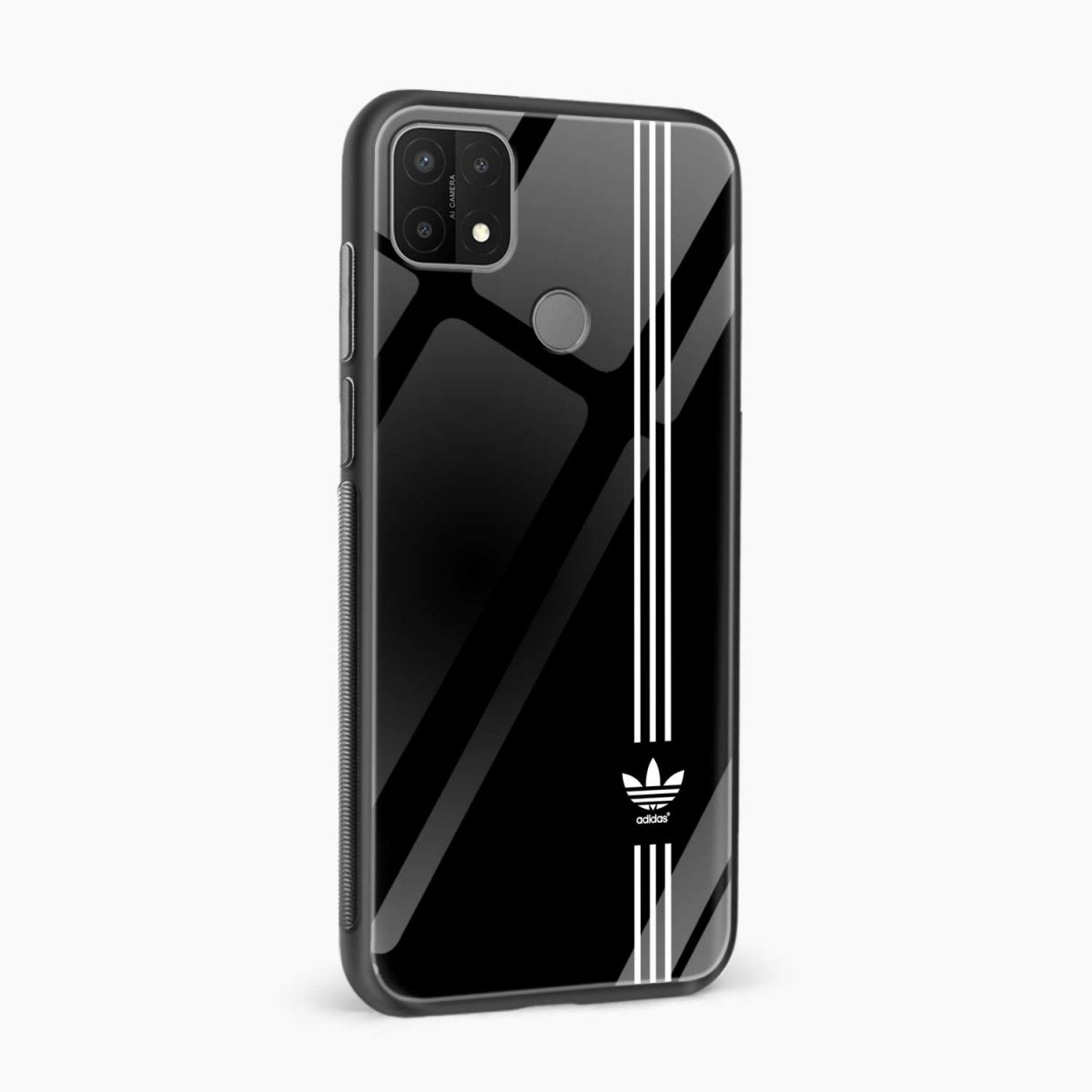 white strips adidasside view oppo a15 back cover