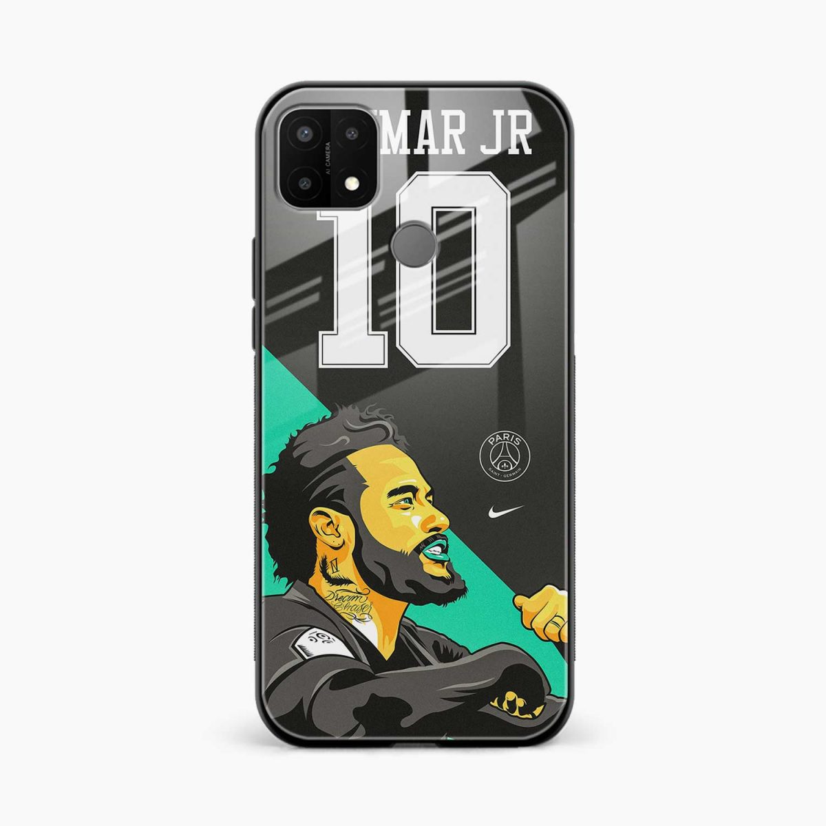 neymar jr 10 front view oppo a15 back cover