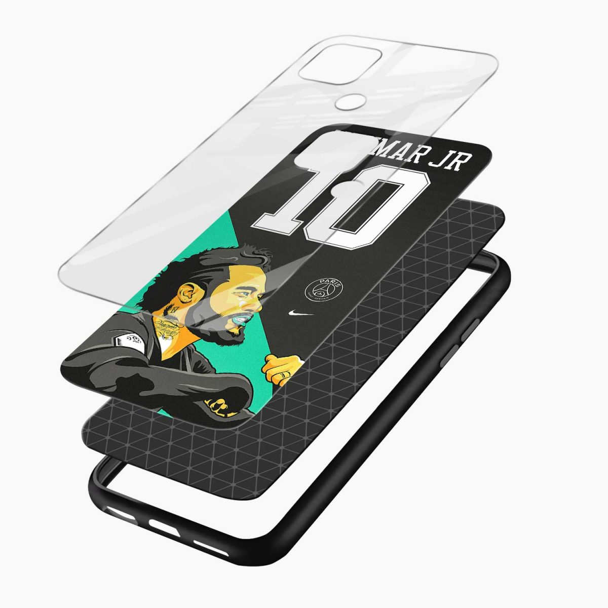 neymar jr 10 layers view oppo a15 back cover