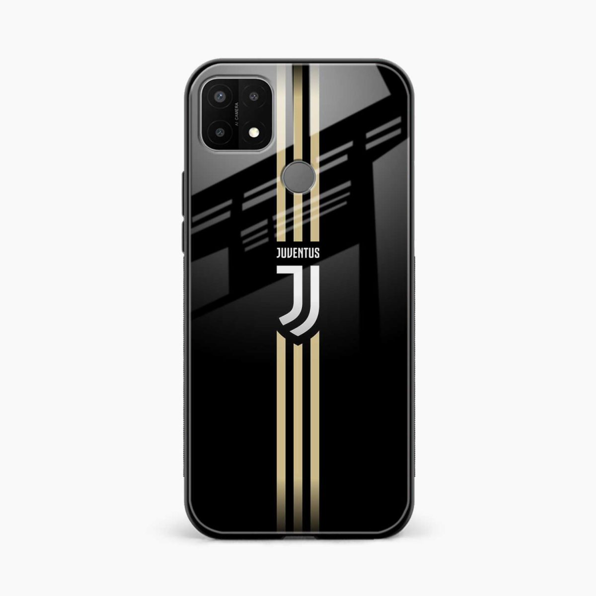 juventus golden strips front view oppo a15 back cover