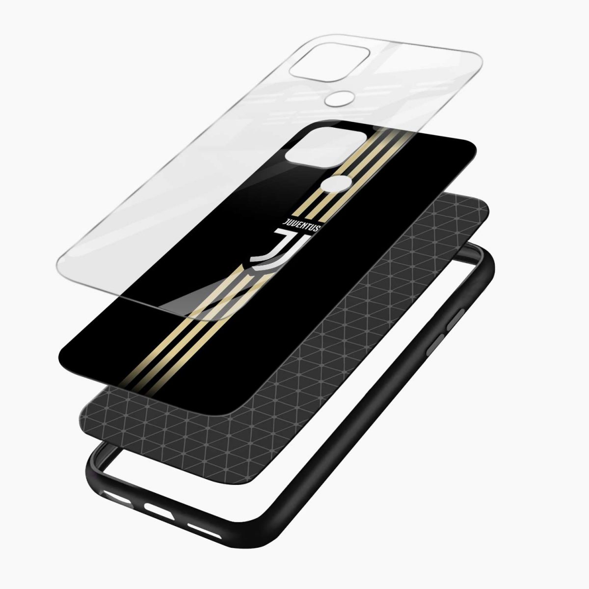 juventus golden strips layers view oppo a15 back cover