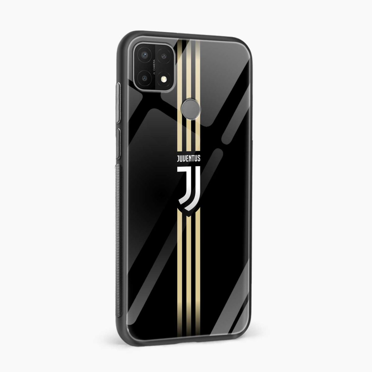 juventus golden strips side view oppo a15 back cover