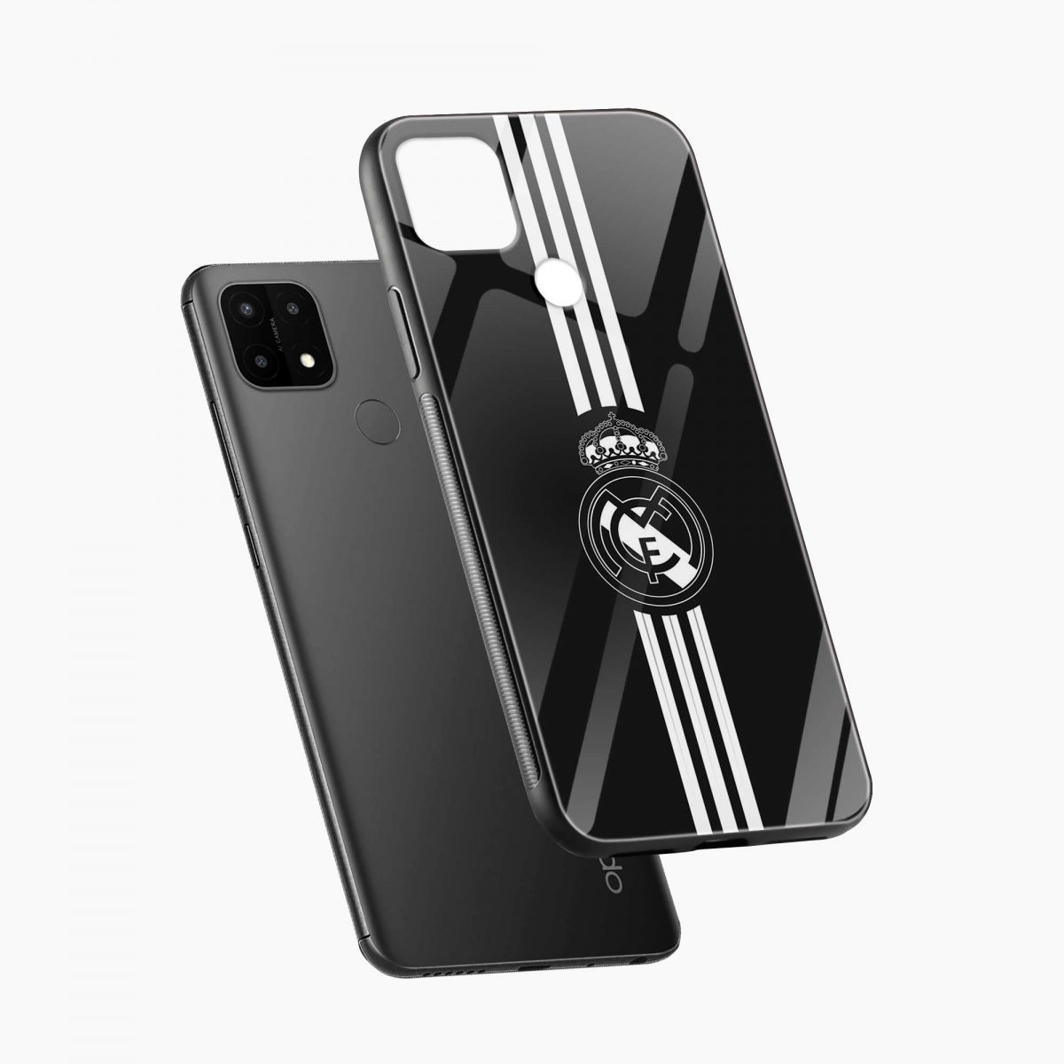 real madrid cf diagonal view oppo a15 back cover