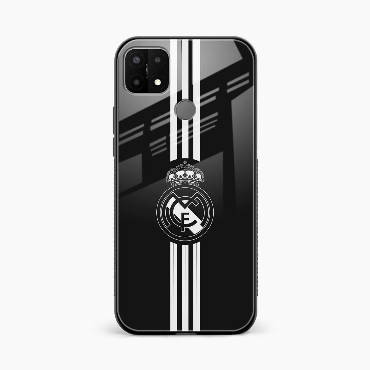 real madrid cf front view oppo a15 back cover