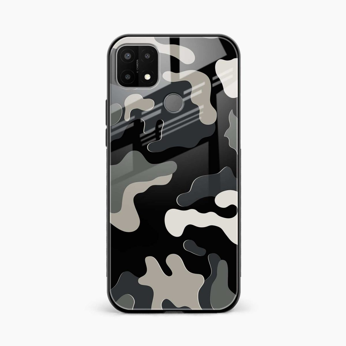 comoulfage pattern front view oppo a15 back cover