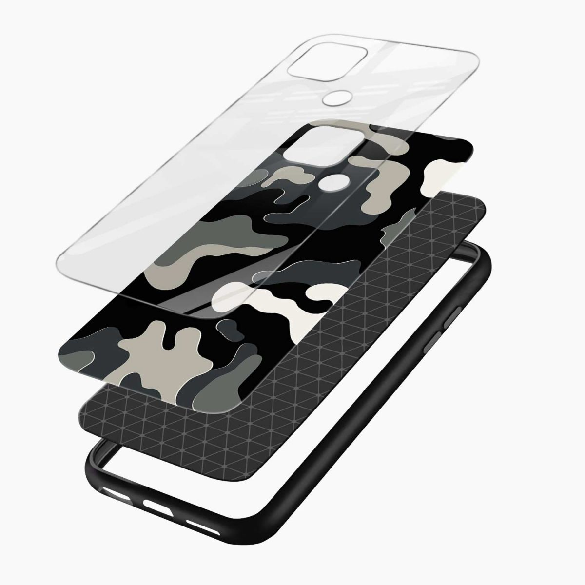 comoulfage pattern layers view oppo a15 back cover