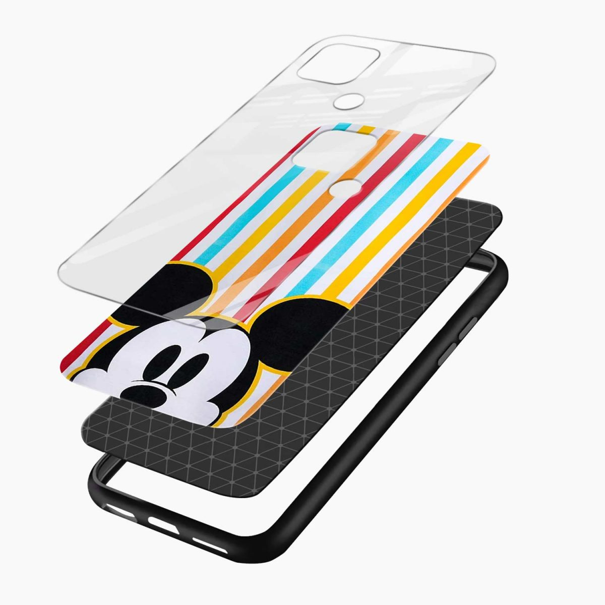 rigid spy mickey mouse layers view oppo a15 back cover