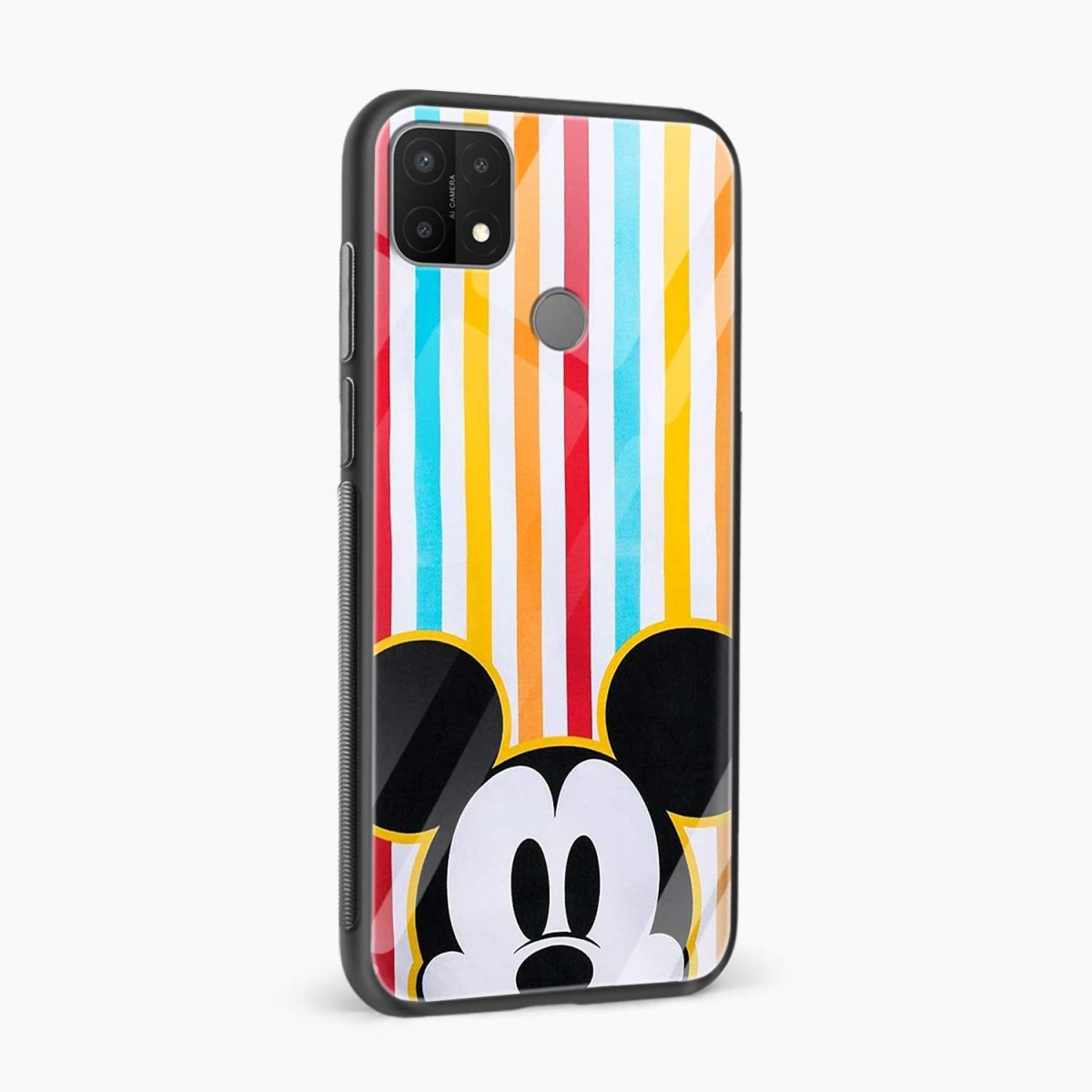 rigid spy mickey mouse side view oppo a15 back cover