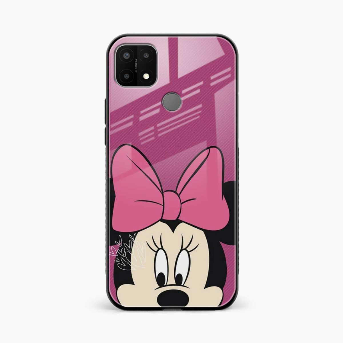 disney minnie cartoon front view oppo a15 back cover