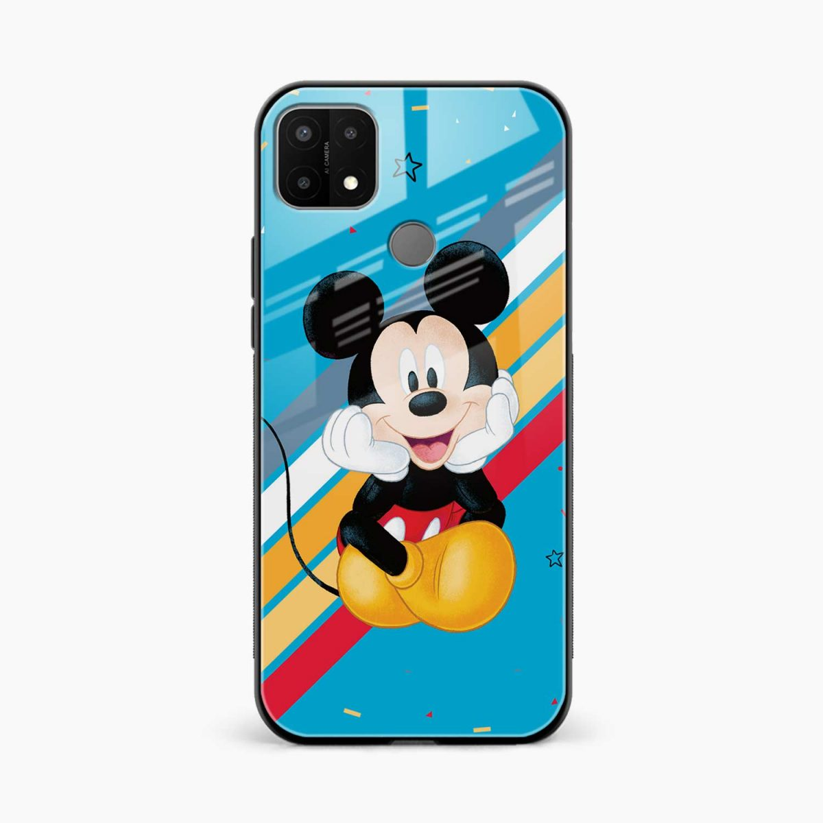 cute mickey mouse disney cartoon front view oppo a15 back cover
