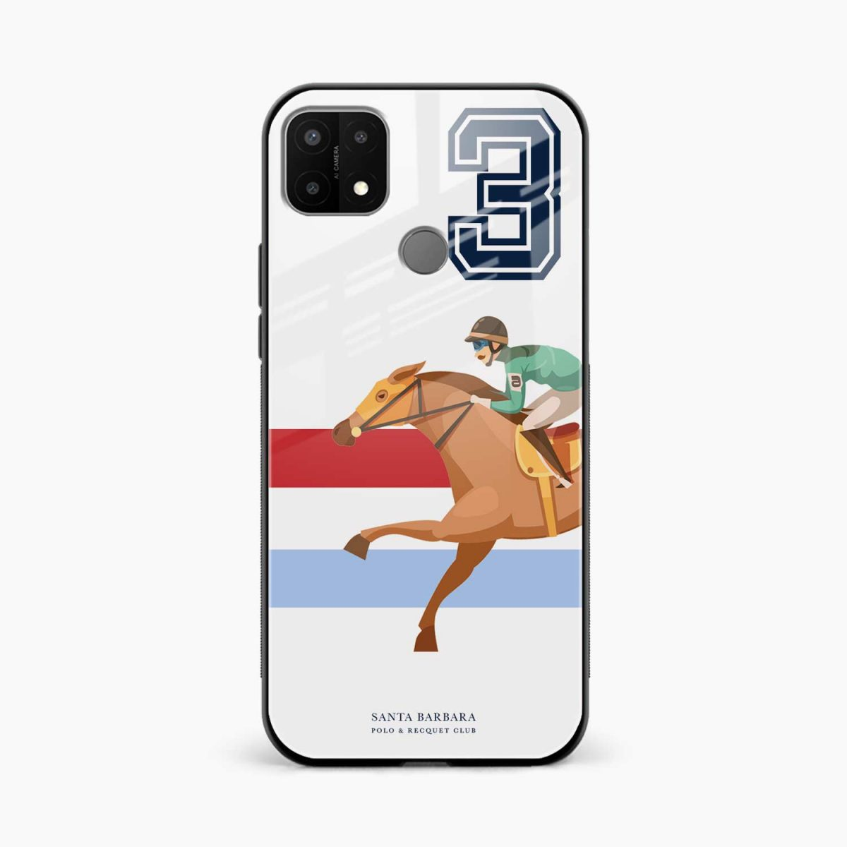 3d sant barbara polo front view oppo a15 back cover