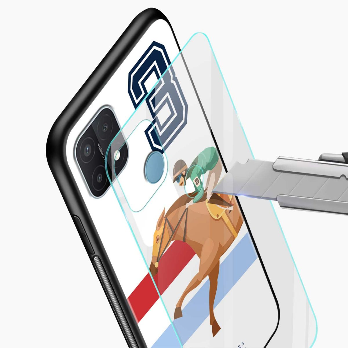 3d sant barbara polo glass view oppo a15 back cover