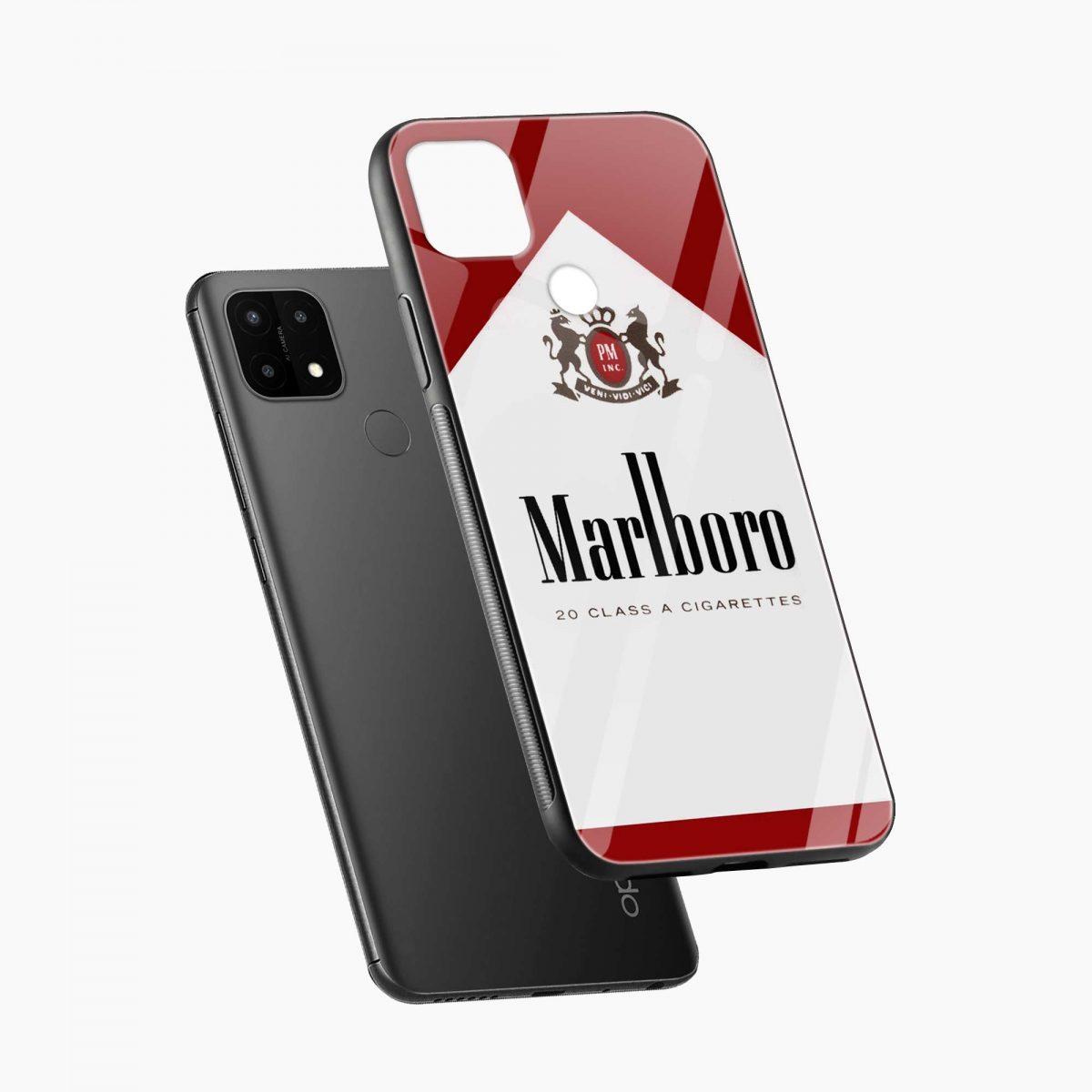 marlboro cigarette box diagonal view oppo a15 back cover