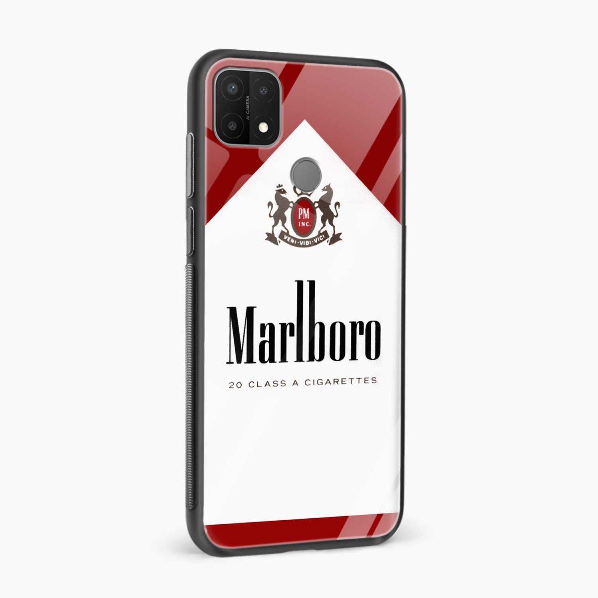 marlboro cigarette box side view oppo a15 back cover