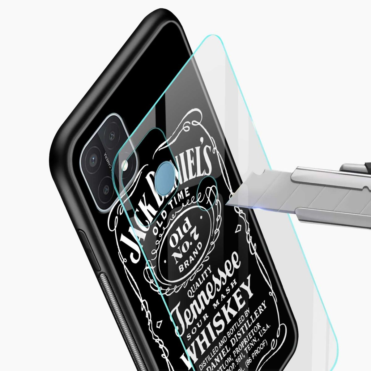 jack daniels whiskey glass view oppo a15 back cover