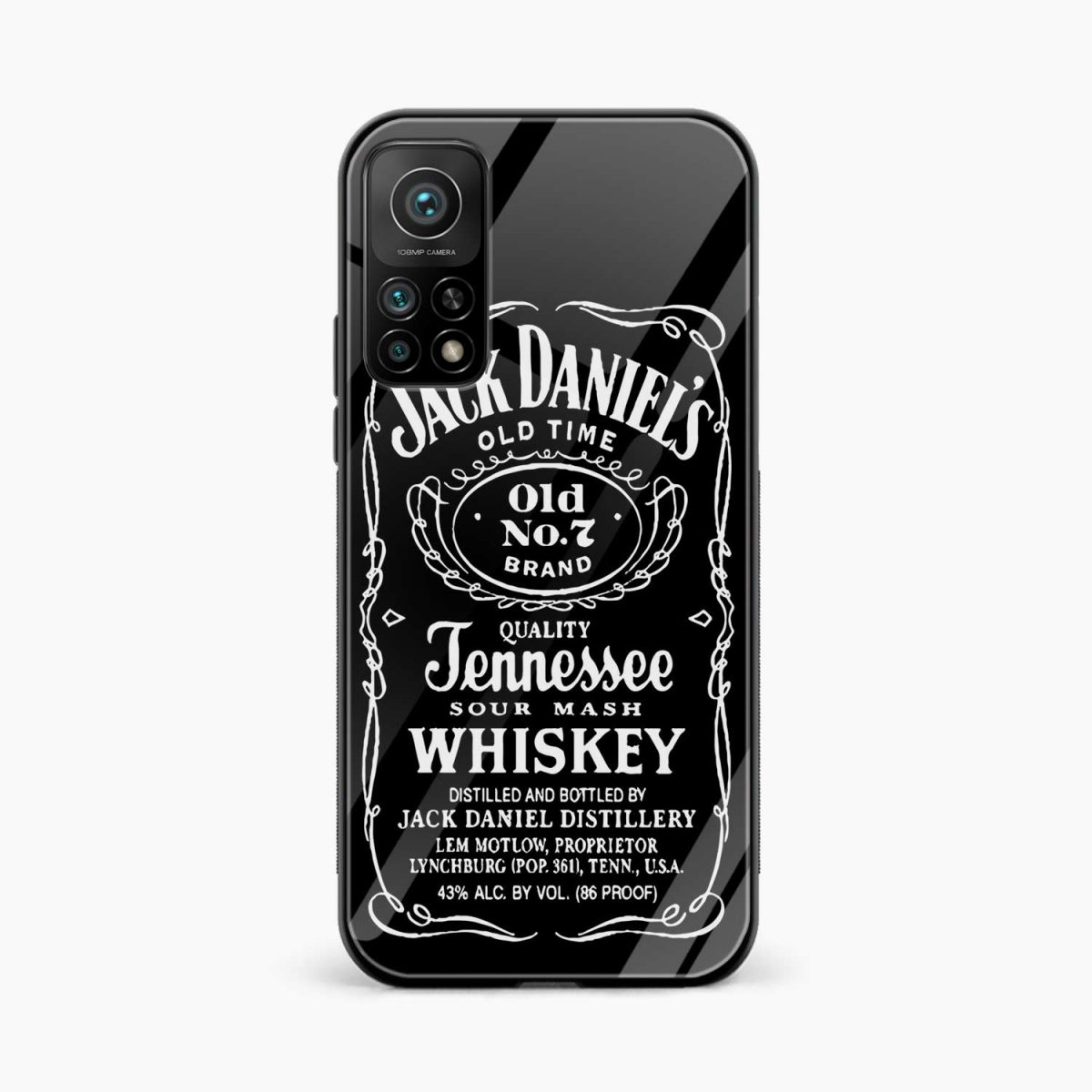 jack daniels whiskey xiaomi mi 10t pro back cover front view