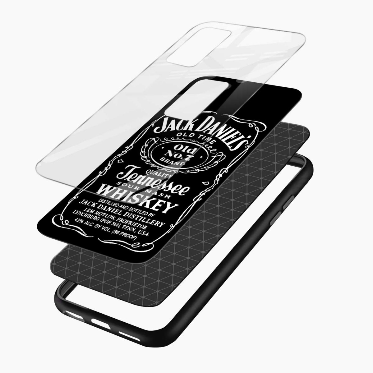 jack daniels whiskey xiaomi mi 10t pro back cover layers view