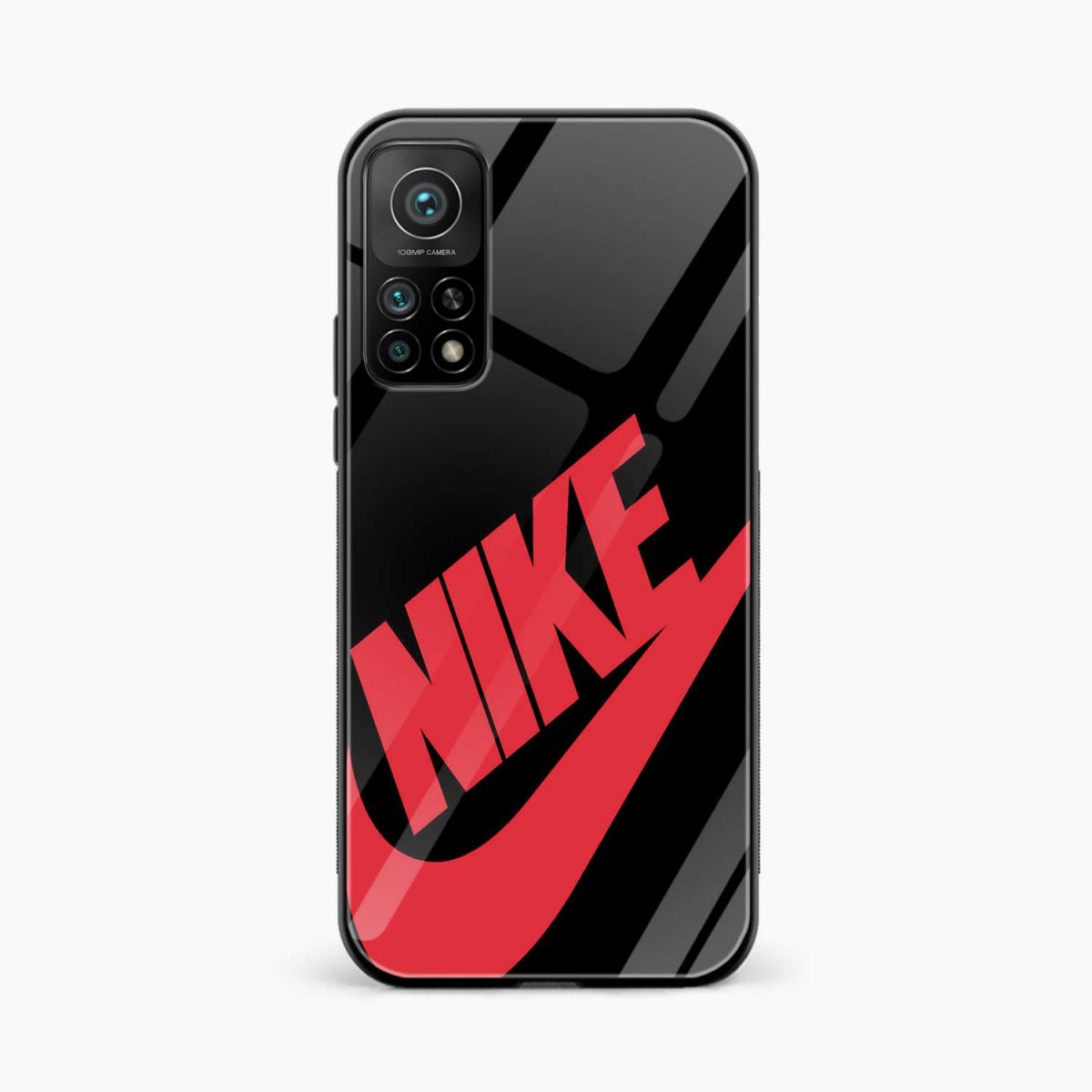 big red nike xiaomi mi 10t pro back cover front view