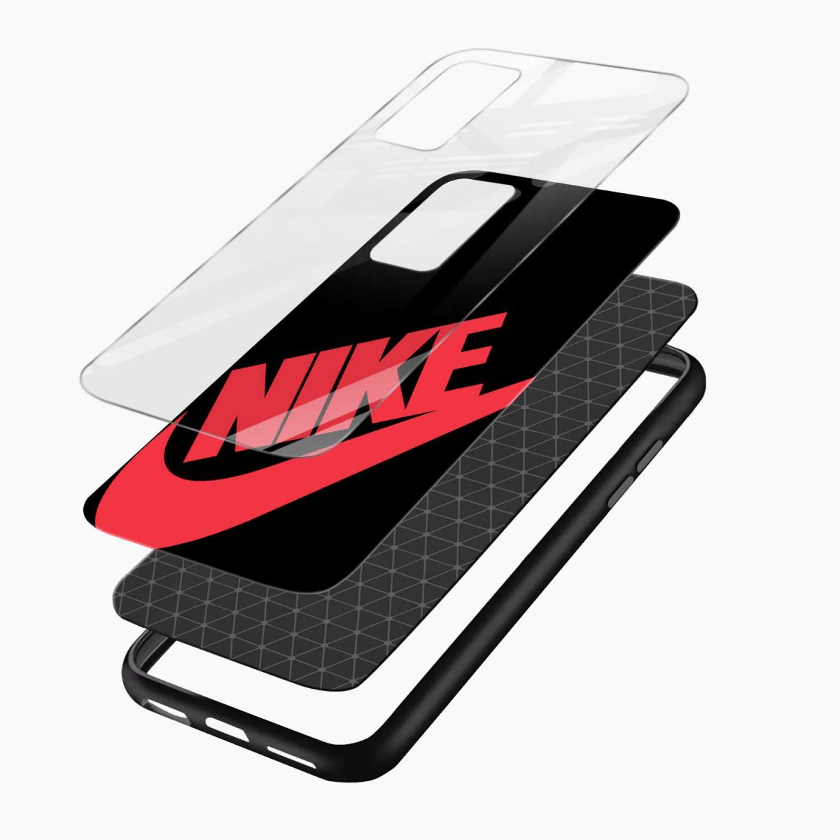 big red nike xiaomi mi 10t pro back cover layers view