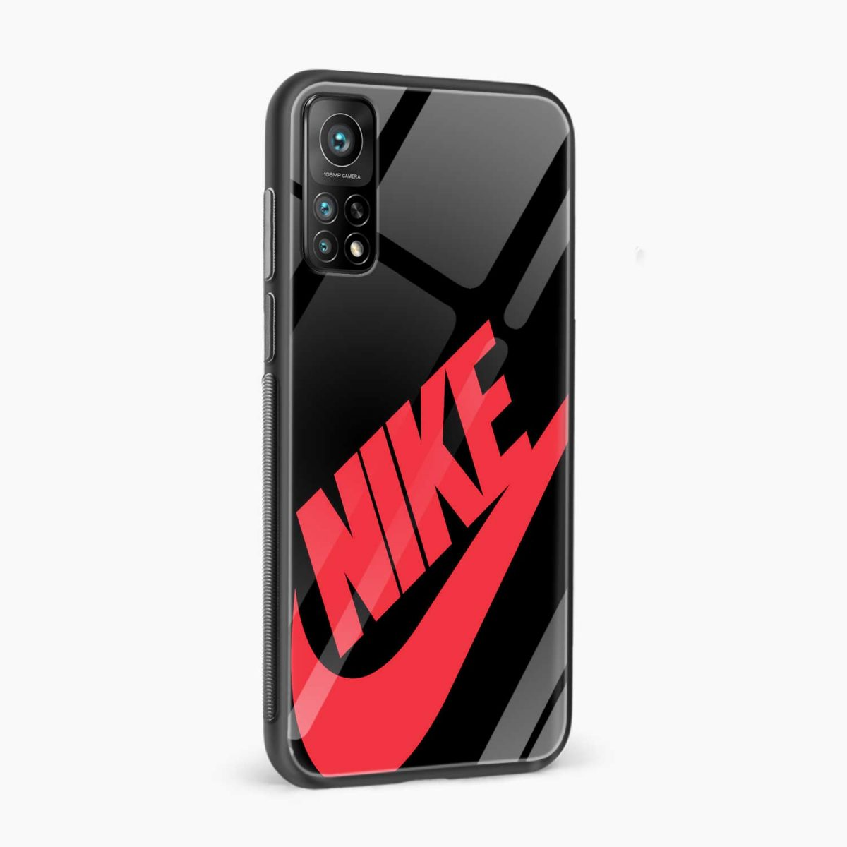 big red nike xiaomi mi 10t pro back cover side view
