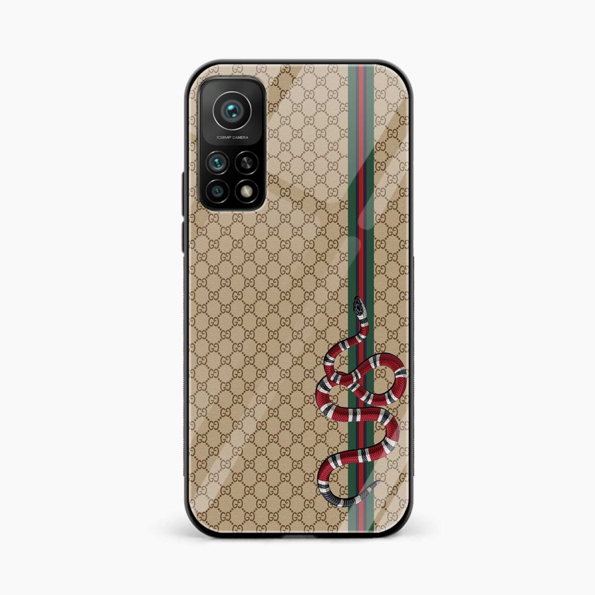 gucci snake pattern xiaomi mi 10t pro back cover front view