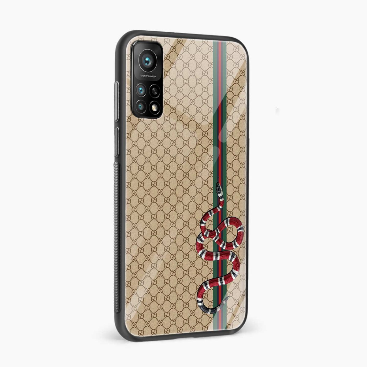 gucci snake pattern xiaomi mi 10t pro back cover side view