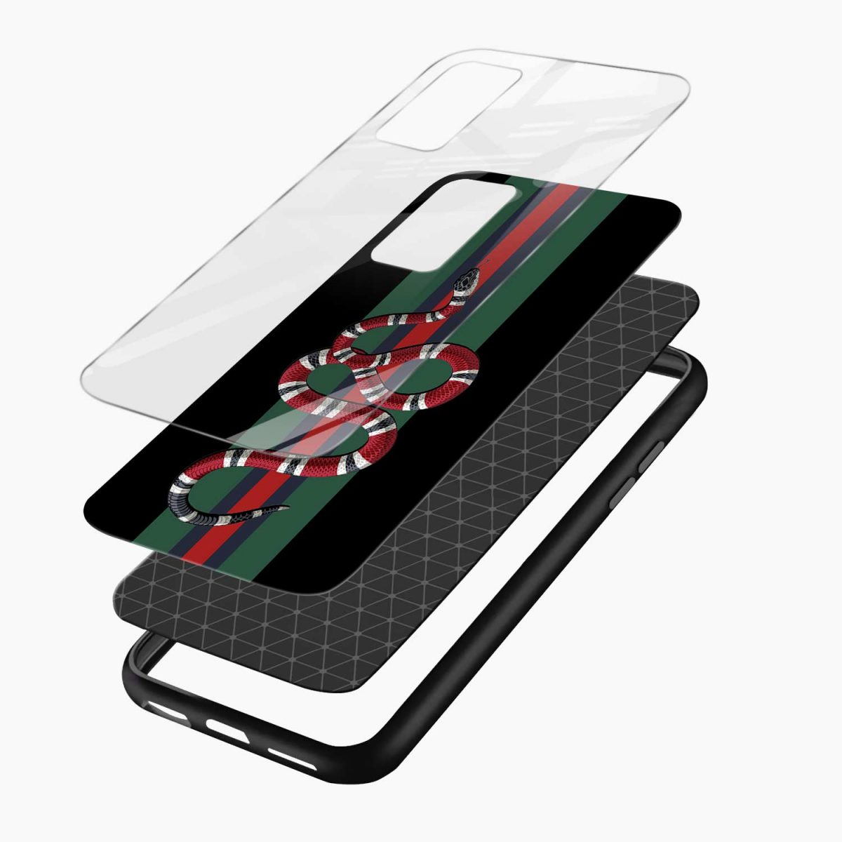 gucci snake with strips xiaomi mi 10t pro back cover layers view